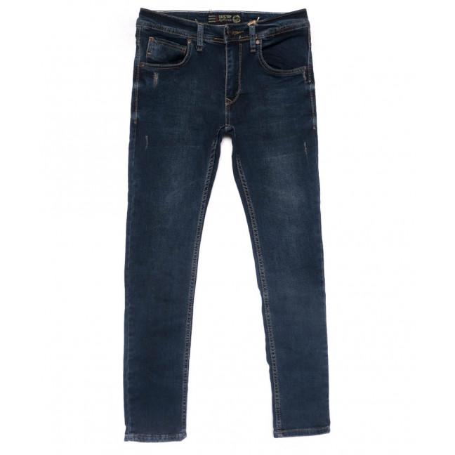 6162 Destry джинсы мужские c царапками синие весенние стрейчевые (29-36, 8 ед.) Destry: артикул 1102896