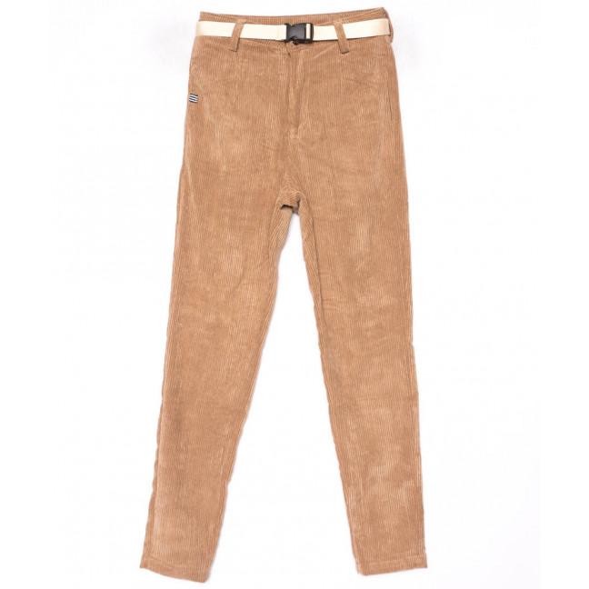 1499 Lady N брюки женские бежевые вельветовые весенние стрейчевые (25-30, 6 ед.) Lady N: артикул 1102835