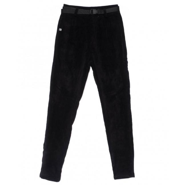1500 Lady N брюки женские черные вельветовые весенние стрейчевые (25-30, 6 ед.) Lady N: артикул 1102834