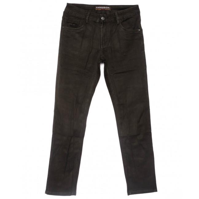 4059 Fangsida джинсы мужские полубатальные коричневые весенние стрейчевые (32-38, 8 ед.)  Fangsida: артикул 1102865