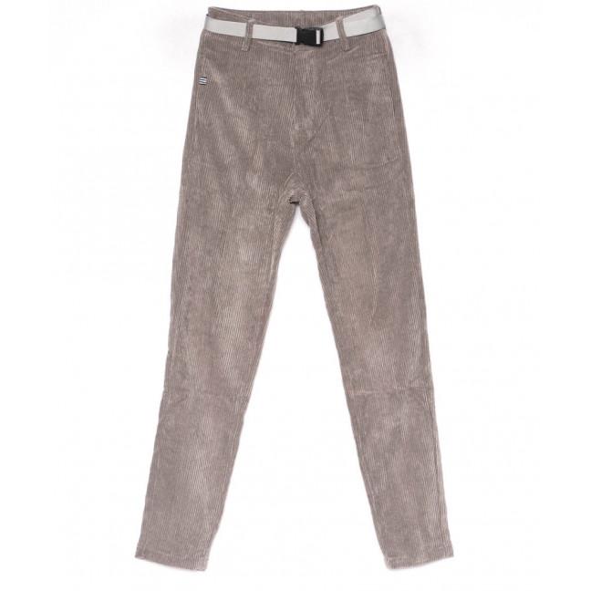 1501 Lady N брюки женские серые вельветовые весенние стрейчевые (25-30, 6 ед.) Lady N: артикул 1102837