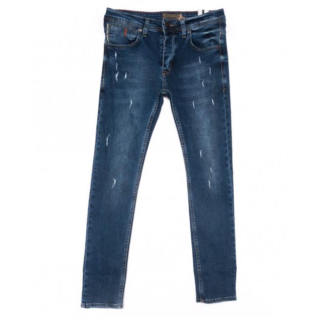 5954 Blue Nil джинсы мужские с царапками синие весенние стрейчевые (29-36, 8 ед.) Blue Nil: артикул 1102897