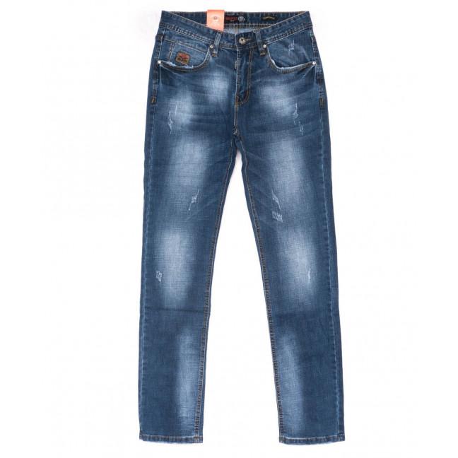 9904-3 R Relucky джинсы мужские с царапками синие весенние стрейчевые (29-38, 8 ед.) Relucky: артикул 1103202