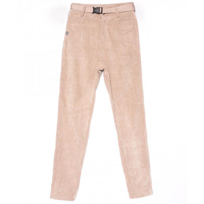 1498 Lady N брюки женские бежевые вельветовые весенние стрейчевые (25-30, 6 ед.) Lady N: артикул 1102838