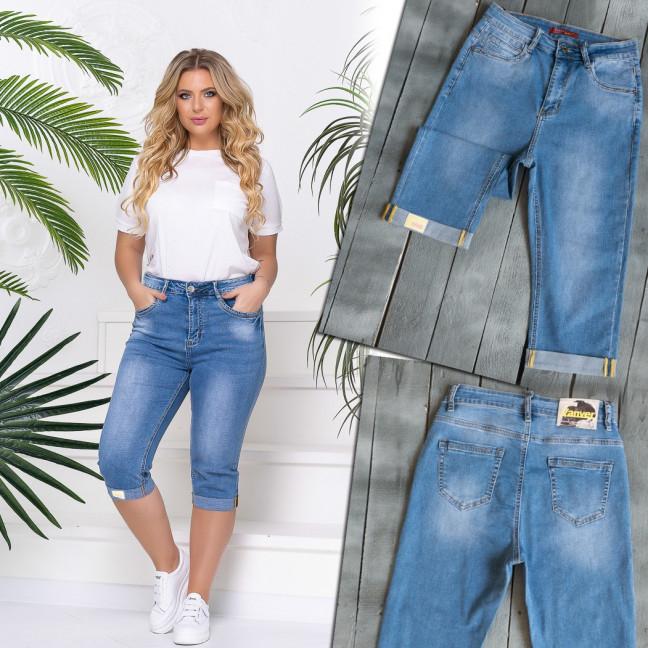 8398 Vanver шорты джинсовые женские батальные синие стрейчевые (30-36, 6 ед.) Vanver: артикул 1108517