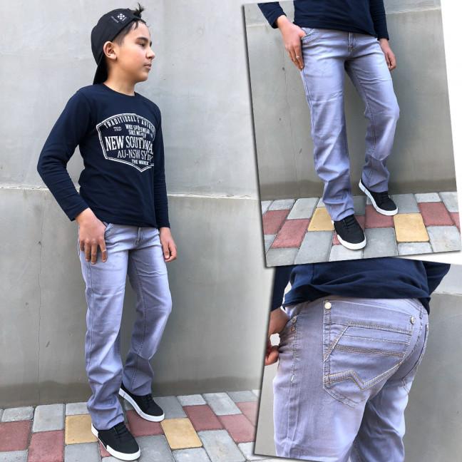 3233 Vigoocc подростковые джинсы на мальчика серые стрейчевые (7 ед. размеры: 24.25.26.27.28.29.30) Vigoocc: артикул 1113258