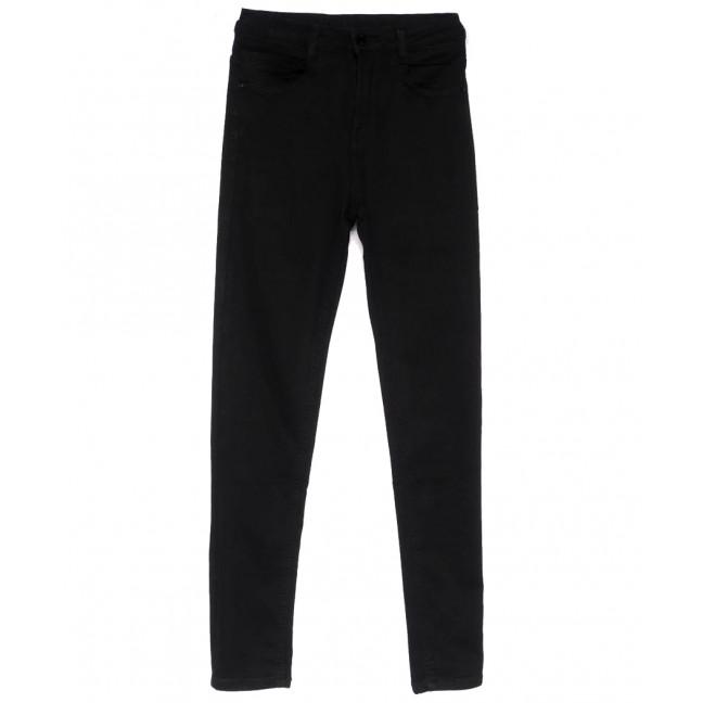 0125 Lelena джинсы женские зауженные черные весенние стрейчевые (25-30, 6 ед.) Lelena: артикул 1103608