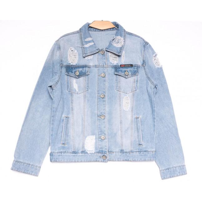 0810 New jeans куртка джинсовая женская синяя весенняя коттоновая (S-XXL, 6 ед.) New Jeans: артикул 1103734