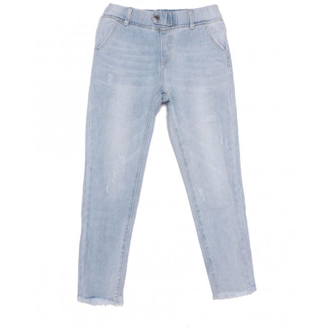 3628 New jeans мом с царапками голубой весенний коттоновый (25-30, 6 ед.) New Jeans: артикул 1103402