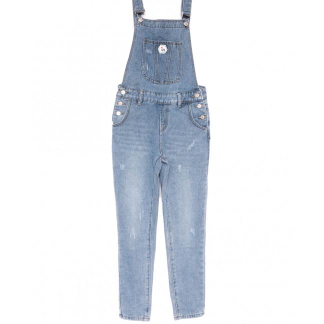 3651 New jeans комбинезон с царапками синий весенний коттоновый (25-30, 6 ед.) New Jeans: артикул 1103741