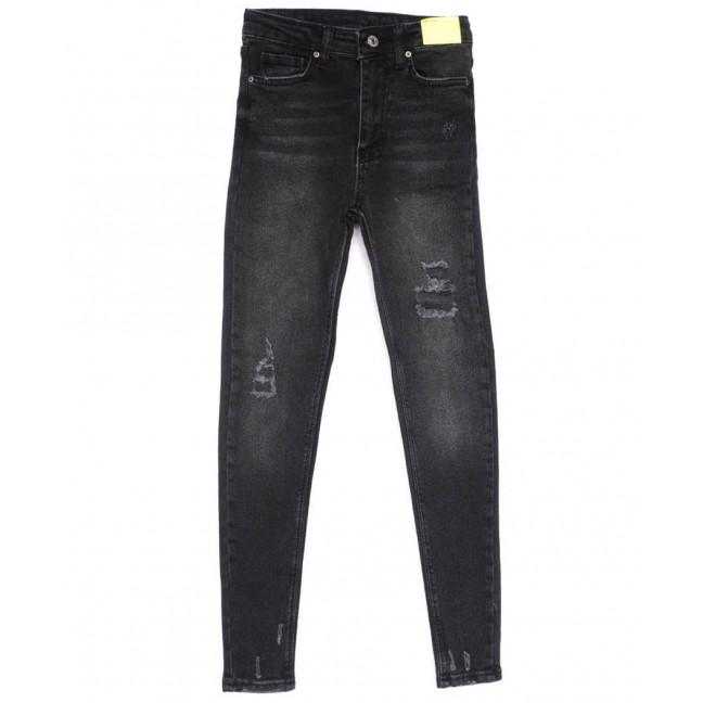 2347 X джинсы женские зауженные черные весенние стрейчевые (34-42,евро, 8 ед.) X: артикул 1103980