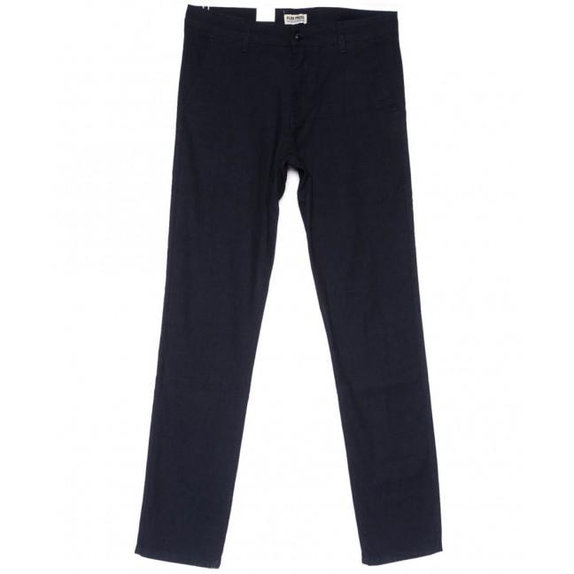 0885 Plus Press брюки мужские полубатальные черные весенние стрейчевые (32-38, 8 ед.) Plus Press: артикул 1103683