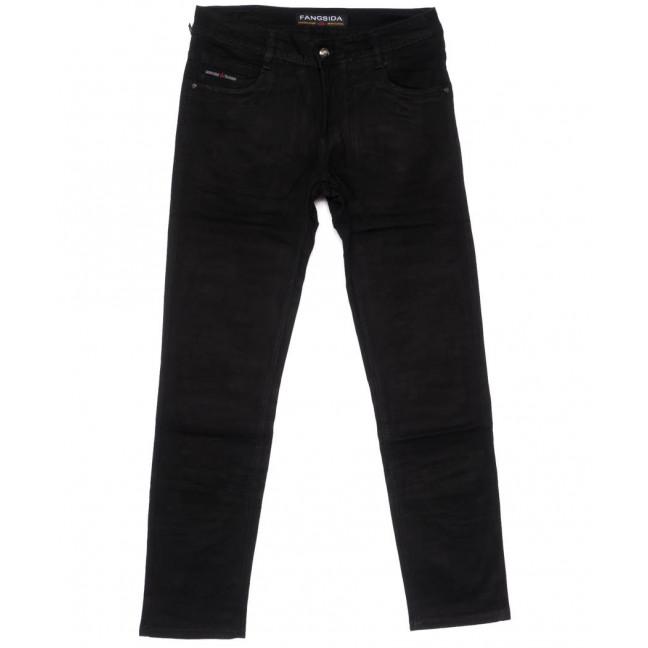4039 Fangsida джинсы мужские полубатальные черные весенние стрейчевые (32-38, 8 ед.) Fangsida: артикул 1104035