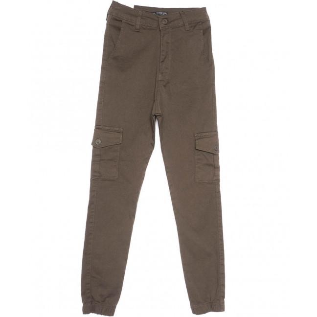 5327 Haki Martin Love брюки-джоггеры коричневые весенние стрейчевые (26-29, 7 ед.) Its Basic: артикул 1103774
