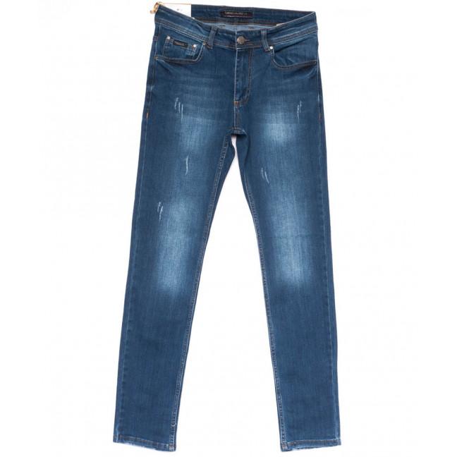 0696 Diego Milito джинсы мужские с царапками синие весенние стрейчевые (30-36, 6 ед.) Diego Milito: артикул 1103915
