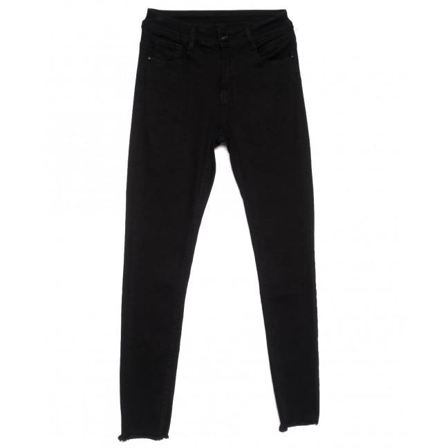 0162 Lelena джинсы женские зауженные черные весенние стрейчевые (25-30, 6 ед.) Lelena: артикул 1103613