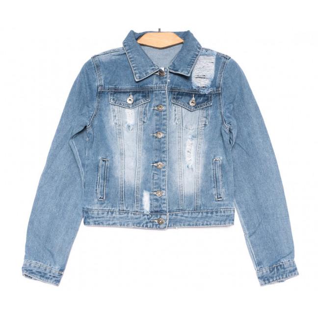 0802 New jeans куртка джинсовая женская синяя весенняя коттоновая (XS-XXL, 6 ед.) New Jeans: артикул 1103411