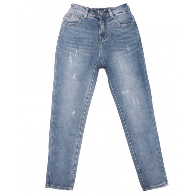 3654 New jeans мом с царапками синий весенний коттоновый (25-30, 6 ед.) New Jeans: артикул 1103401