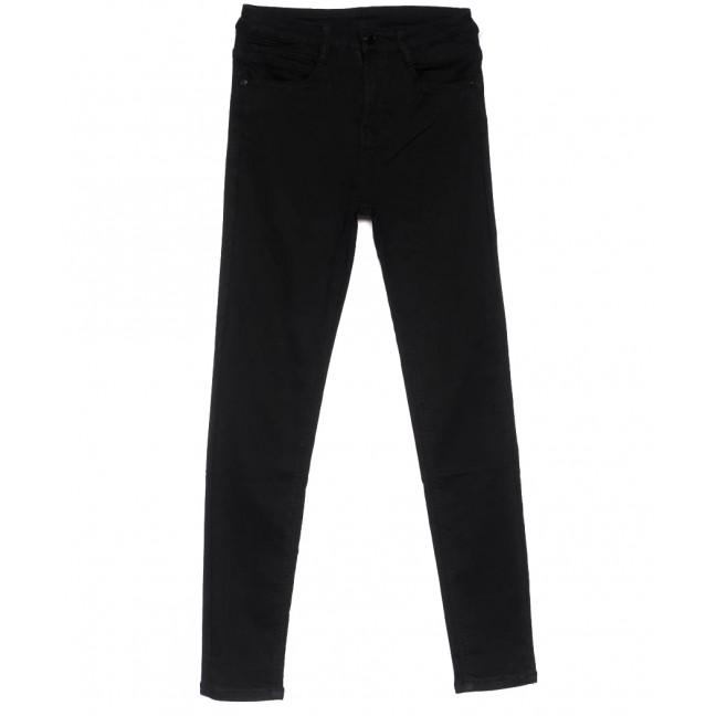 0105 Lelena джинсы женские зауженные черные весенние стрейчевые (25-30, 6 ед.) Lelena: артикул 1103611
