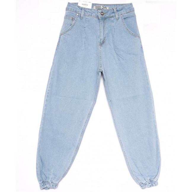 17000 Sasha джинсы женские на резинке синие весенние стрейчевые (26-31, 8 ед.) Sasha: артикул 1103934