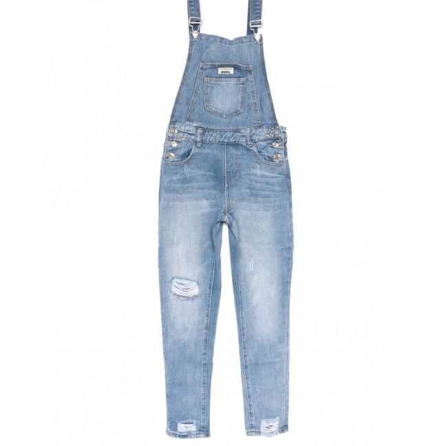 3635 New jeans комбинезон с царапками синий весенний коттоновый (25-30, 6 ед.) New Jeans: артикул 1103742