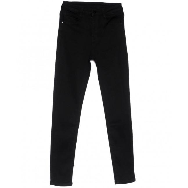 0127 Lelena джинсы женские зауженные черные весенние стрейчевые (25-30, 6 ед.) Lelena: артикул 1103609