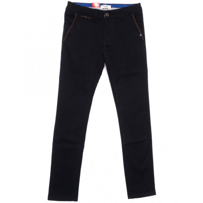 0720-29 Pobeda брюки мужские черные весенние стрейчевые (29-38, 8 ед.) Pobeda Denim: артикул 1105081
