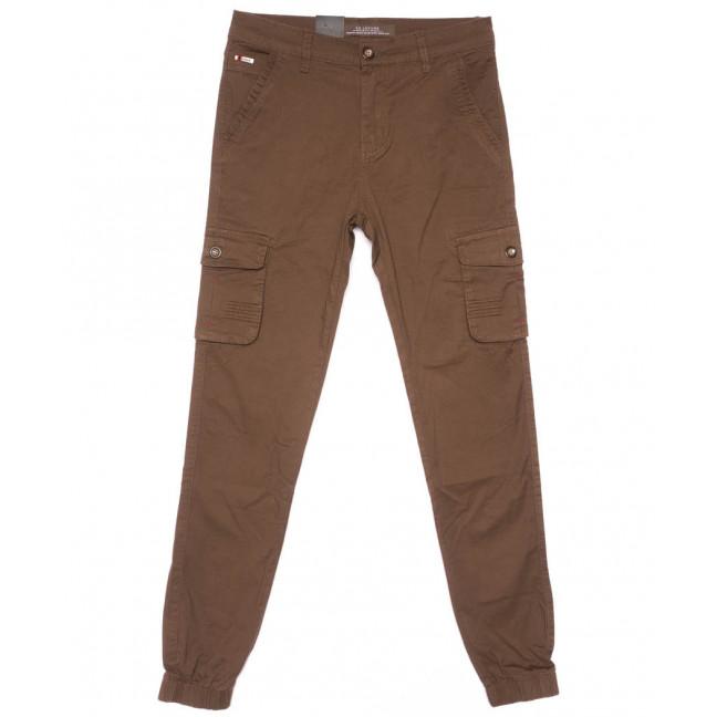 3054-А LS брюки мужские молодежные карго коричневые весенние стрейчевые (28-36, 8 ед.) LS: артикул 1104460