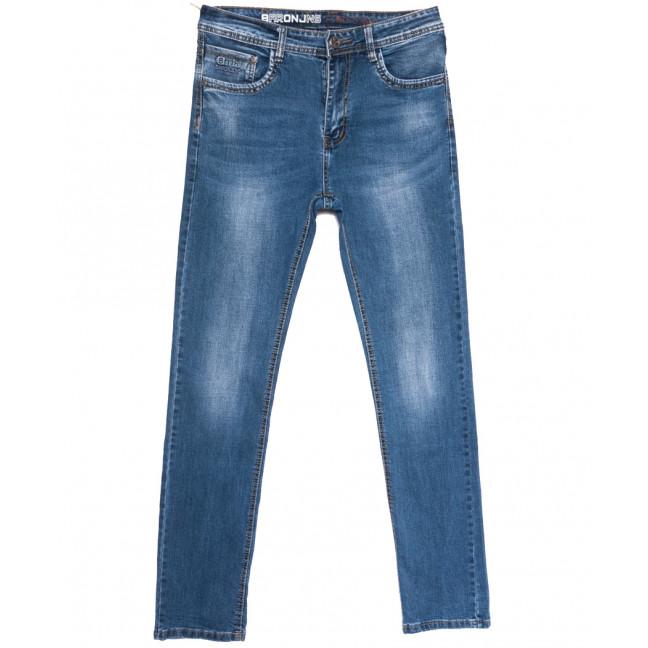 0505 Baron джинсы мужские полубатальные синие весенние стрейчевые (32-38, 8 ед.) Baron: артикул 1105689