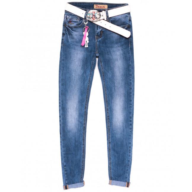 5036 Derun джинсы женские стильные синие весенние стрейчевые (25-30, 6 ед.) Derun: артикул 1105329