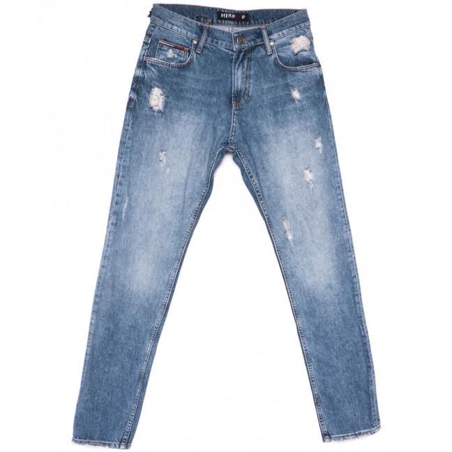 8008 Herocco джинсы мужские с рванкой синие весенние коттоновые (30-40, 8 ед.) Herocco: артикул 1104302
