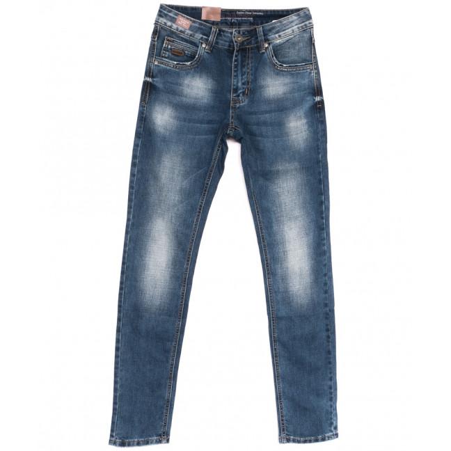 9443 God Baron джинсы мужские молодежные синие весенние стрейчевые (27-34, 8 ед.) God Baron: артикул 1105456