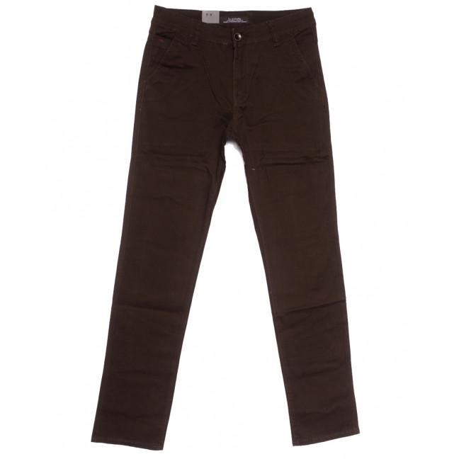 3012 LS брюки мужские коричневые весенние стрейчевые (29-38, 8 ед.) LS: артикул 1105560