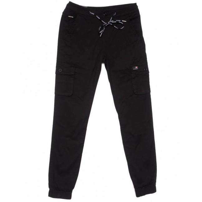 3048-А LS брюки мужские молодежные карго черные весенние стрейчевые (27-34, 8 ед.) LS: артикул 1104459