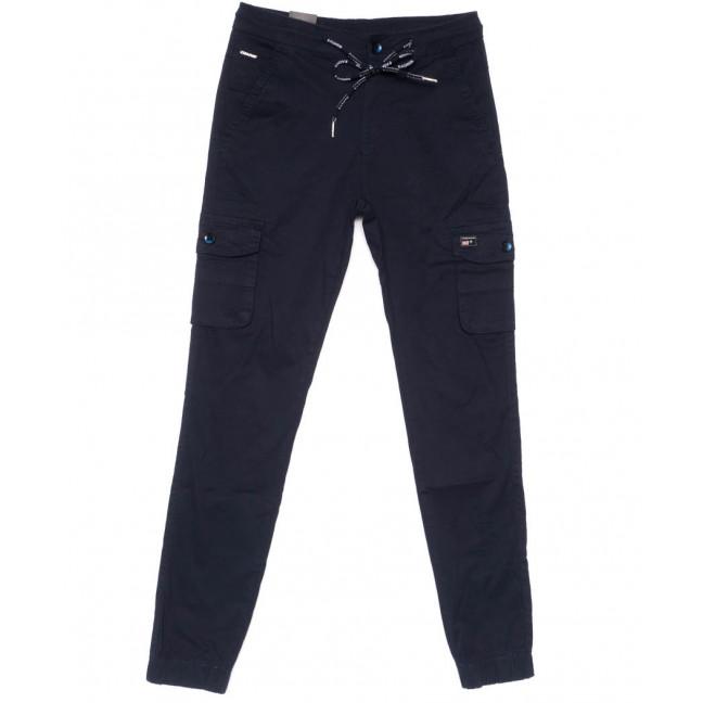 3047-А LS брюки мужские молодежные карго темно-синие весенние стрейчевые (27-34, 8 ед.) LS: артикул 1104452