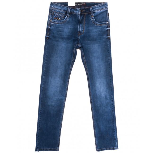 9373 Baron джинсы мужские полубатальные синие весенние стрейчевые (32-38, 8 ед.) Baron: артикул 1105736