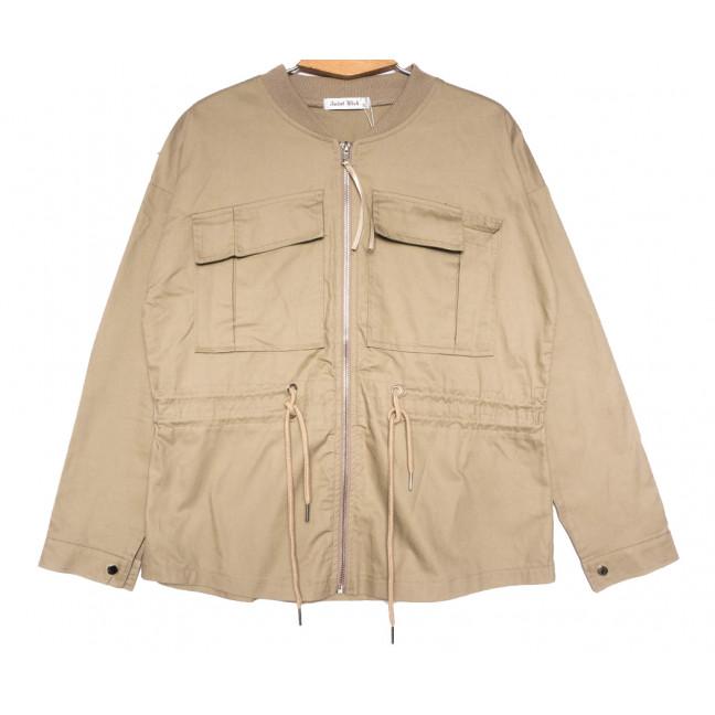 19199 Saint Wish куртка джинсовая женская бежевая весенняя коттоновая (S-2XL, 5 ед.) Saint Wish: артикул 1104858
