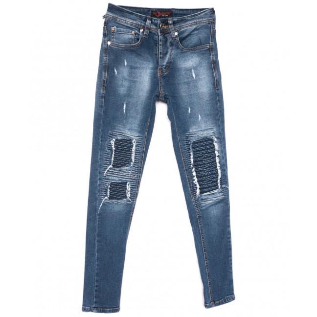 10009 A.Mavi Big Gastino джинсы мужские с рванкой синие весенние стрейчевые (29-36, 8 ед.) Big Gastino: артикул 1104929