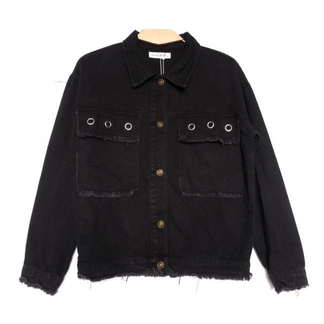 6165 Saint Wish куртка джинсовая женская черная весенняя коттоновая (ХS-XL, 4 ед.) Saint Wish: артикул 1104882