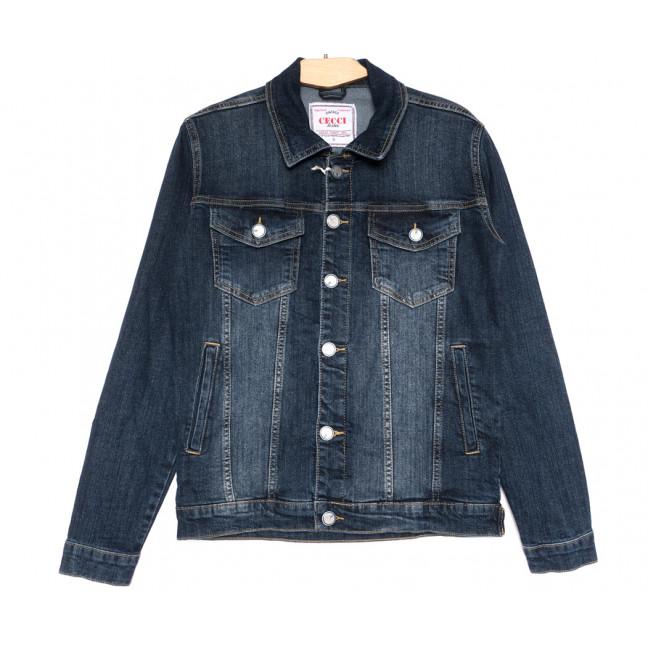 4605 Gecce куртка джинсовая мужская синяя весенняя коттоновая (S-ХХL, 6 ед.) Gecce: артикул 1105637