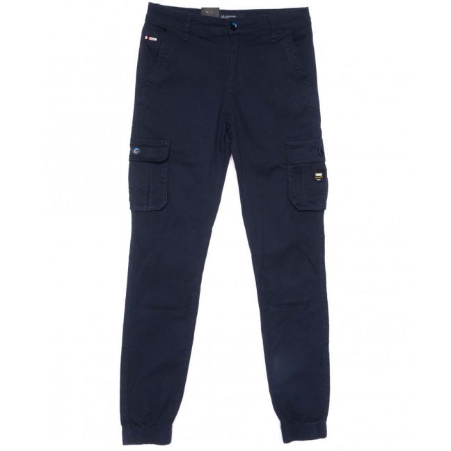3052-А LS брюки мужские молодежные карго темно-синие весенние стрейчевые (28-36, 8 ед.) LS: артикул 1104450