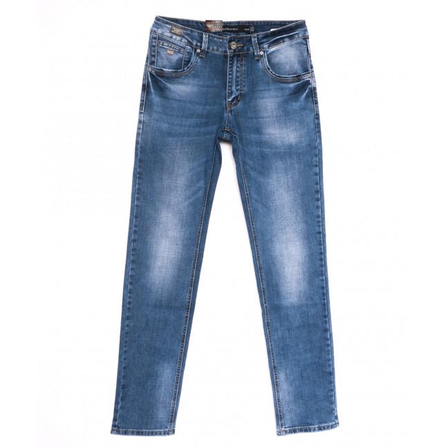 9446 God Baron джинсы мужские с теркой синие весенние стрейчевые (30-38, 8 ед.) God Baron: артикул 1105453