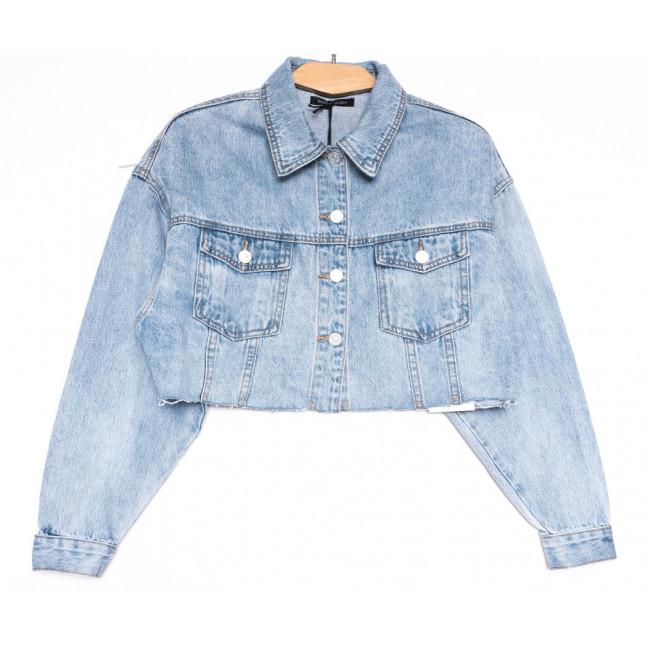 9106 Saint Wish куртка короткая джинсовая женская синяя весенняя коттоновая (ХS-XL, 5 ед.) Saint Wish: артикул 1104863