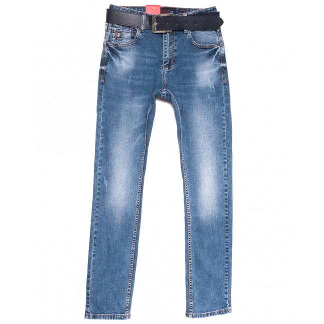 9790 Resalsa джинсы мужские с царапками синие весенние стрейчевые (29-36, 7 ед.) Resalsa: артикул 1105583