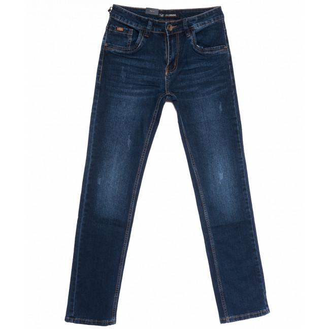 1051 LS джинсы мужские с царапкой синие весенние стрейчевые (29-38, 8 ед.) LS: артикул 1105286