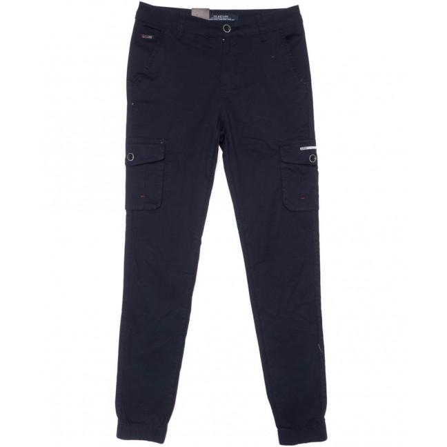 3049-А LS брюки мужские молодежные карго темно-синие весенние стрейчевые (28-36, 8 ед.) LS: артикул 1104462