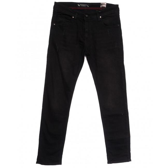 6487 Fashion Red джинсы мужские полубатальные черные весенние стрейчевые (32-40, 8 ед.) Fashion Red: артикул 1105536