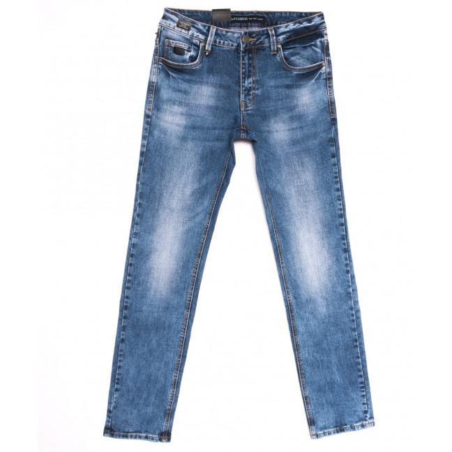 9438 God Baron джинсы мужские с теркой синие весенние стрейчевые (29-38, 8 ед.) God Baron: артикул 1105463