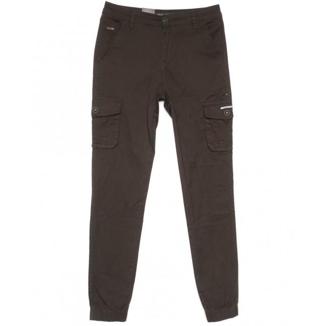 3050-А LS брюки мужские молодежные карго коричневые весенние стрейчевые (28-36, 8 ед.) LS: артикул 1104454