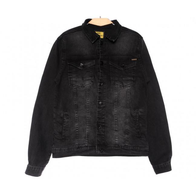 2065 Siyah Big Gastino куртка джинсовая мужская серая весенняя стрейчевая (L-4XL, 5 ед.) Big Gastino: артикул 1104938
